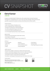Chris Farmer waste management consultant