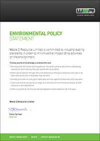 Waste2Resource Environmental Policy
