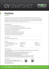 Paul Danks CV