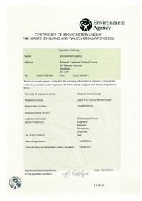 Waste2Resource Waste Carrier/Broker License