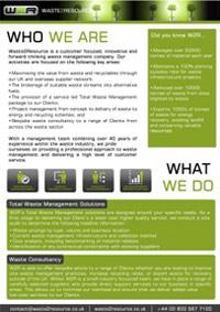 Waste 2 Resource brochure